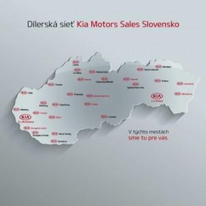 Dealerská síť Kia Motors na Slovensku