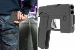 skládací pistole pro dvě rány děsí policii, vypadá složená jako smartfon
