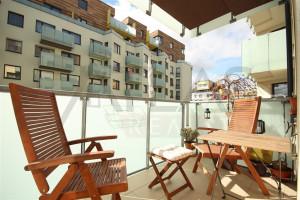 Pronájem částečně zařízeného bytu 3+kk Praha 5 - Stodůlky, Svitákova 2775 - balkon