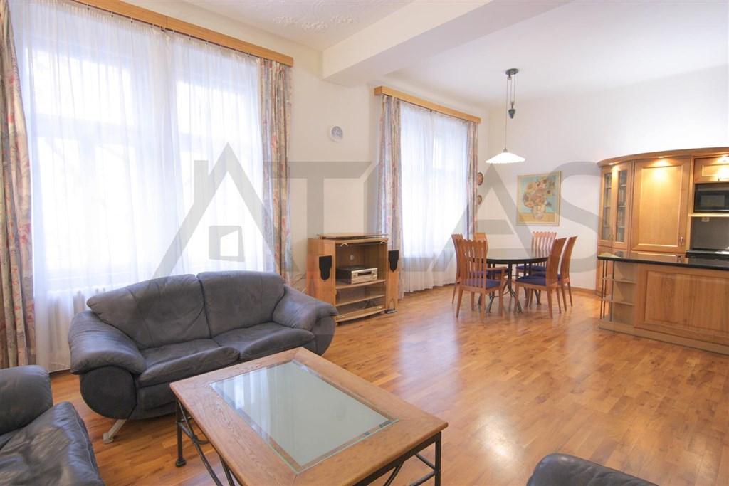Pronájem kompletně zařízeného bytu 2+kk Praha 2 - Vinohrady, Lužická